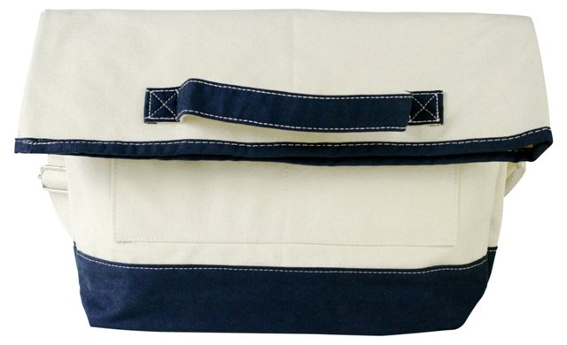 Foldover Laptop Bag, Navy