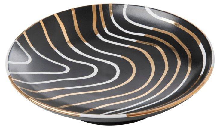 "9"" Electric Bullet Bowl, Black/Gold"