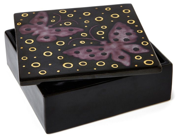 Butterfly Square Box, Black