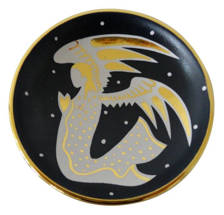 """5"""" Angel Bullet Bowl, Black/Gold"""