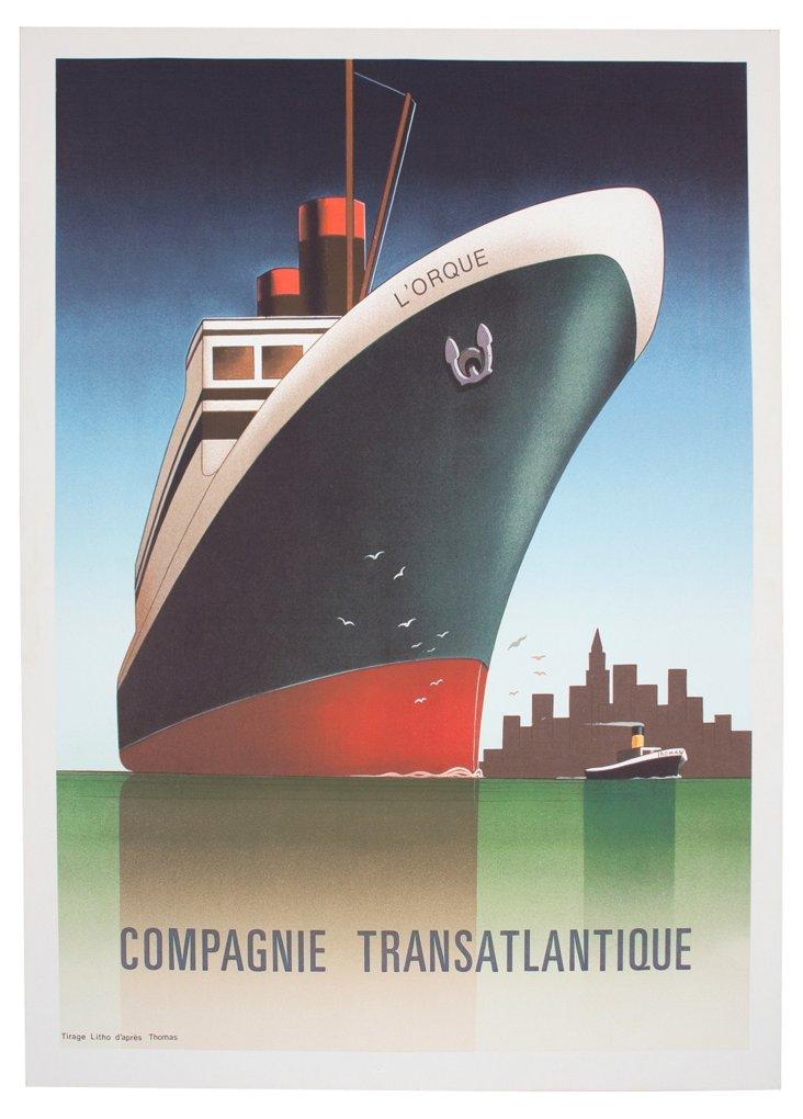 French Transatlantic Ship Art