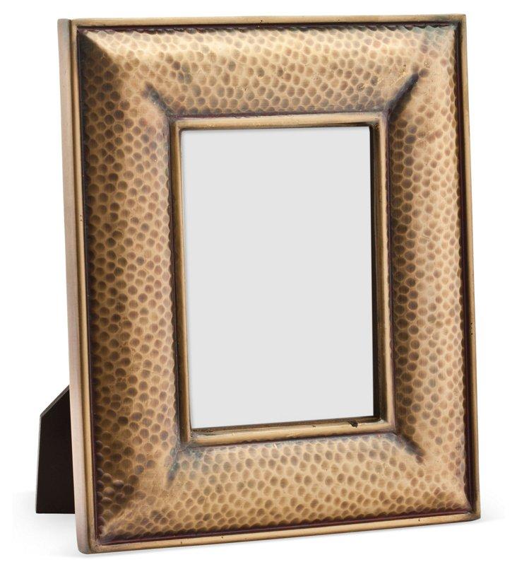 Hammered Metal Frame, 5x7, Gold