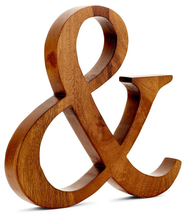 Ampersand Wall Decor, Natural