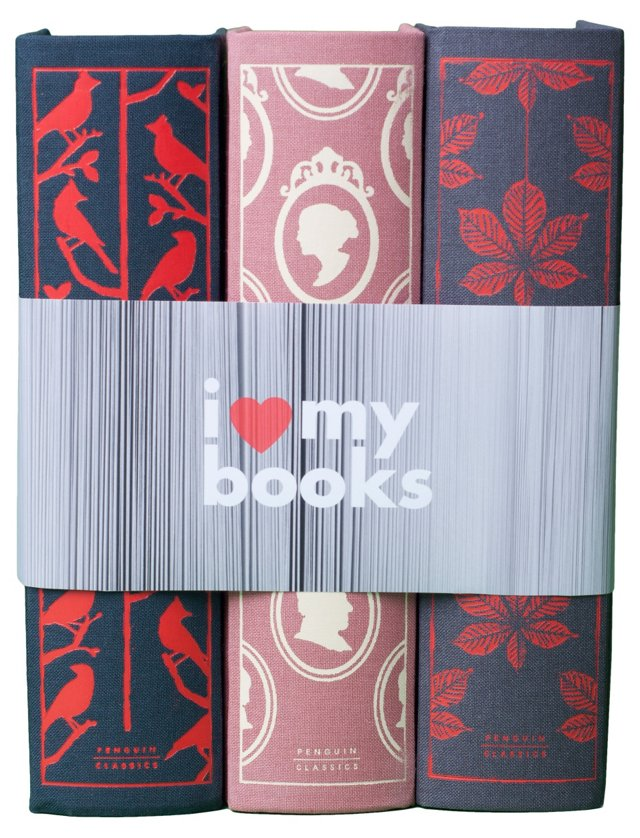 "S/3 ""I Love My Books"" Set"