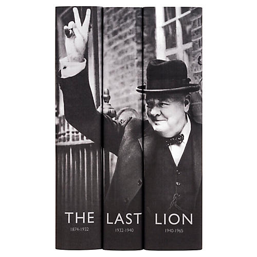 S/3 Winston Churchill Book Collection