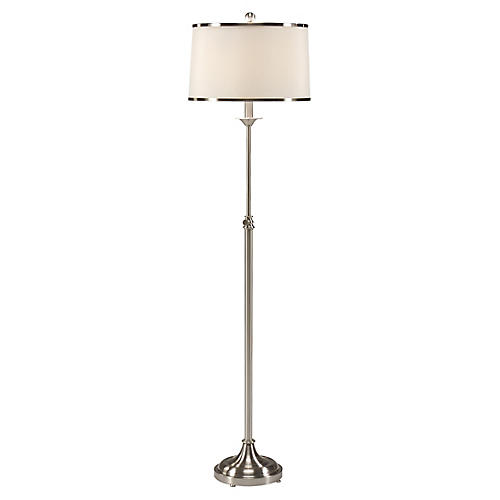 Contemporary Floor Lamp, Nickel