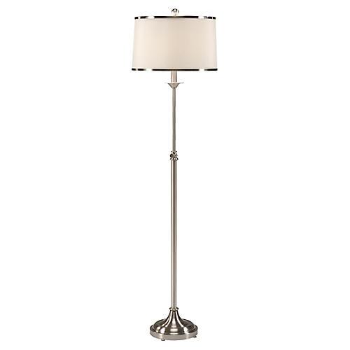 Contemporary Floor Lamp, Nickel
