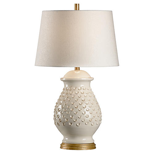 Fiera Table Lamp, Aged Cream/Gold