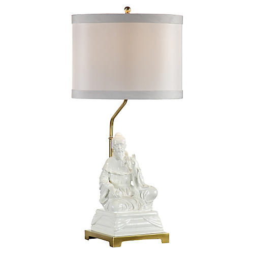 Kiki Emperor Table Lamp, Gardenia White