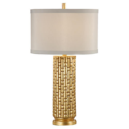 Vivienne Table Lamp, Gold Leaf