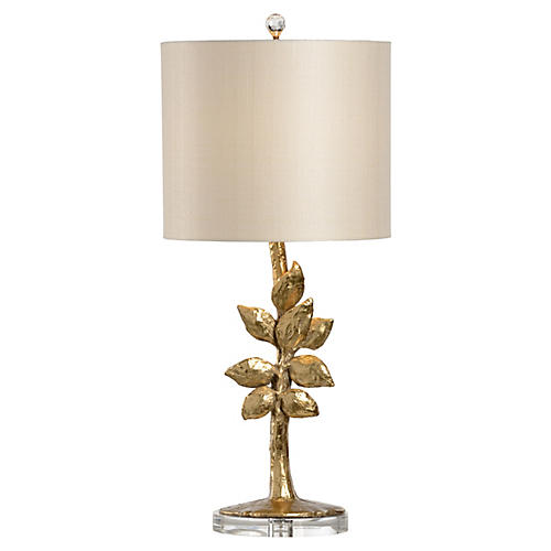 Juliet Table Lamp, Gold Leaf