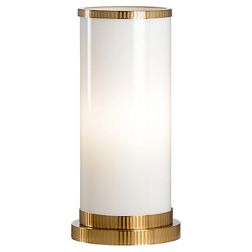 Parrish Hurricane Table Lamp, White