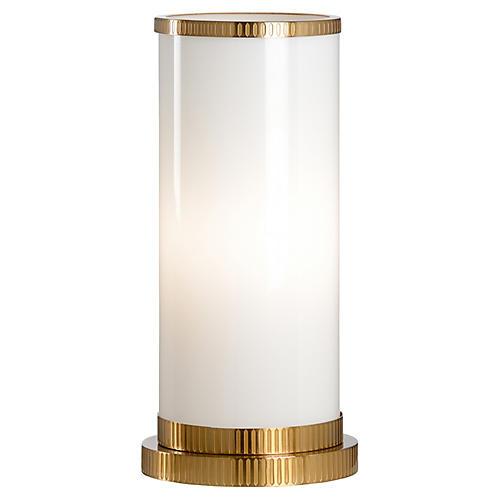 Parrish Hurricane Table Lamp, White