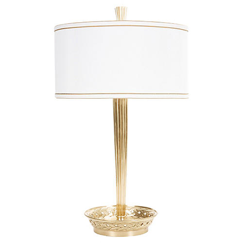 Burbank Table Lamp, Antiqued Brass