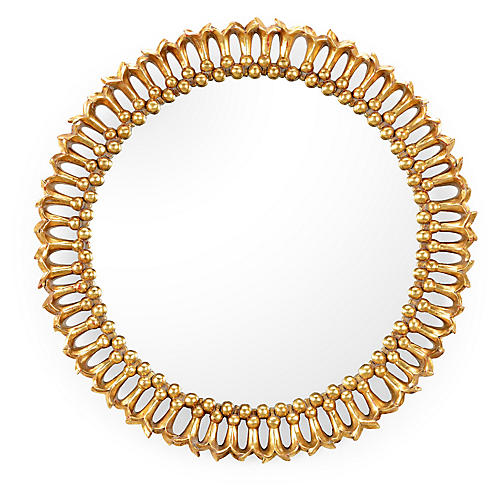 Pomegranate Blossom Wall Mirror, Gold