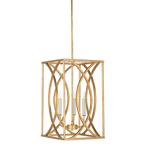 Gayle 3-Light Pendant, Antiqued Gold