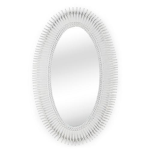 Lannon Oversize Wall Mirror, Matte White