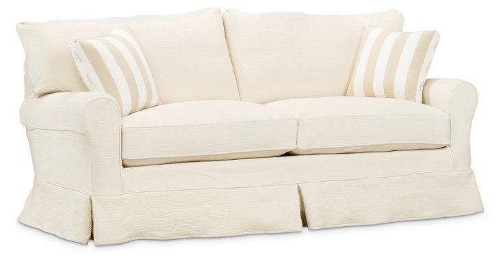"Emily 80"" Sofa, Linen/Beige"