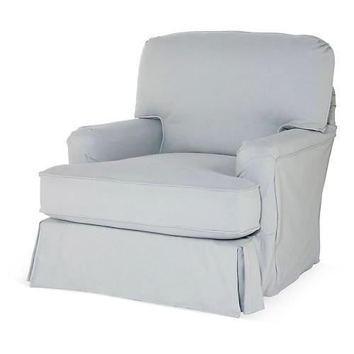 Caroline Club Chair, Slate