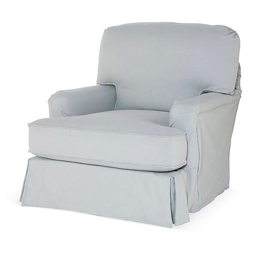 Caroline Club Chair, Slate