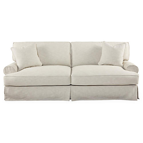"Lauren 93"" Extra-Long Sofa, Sand"