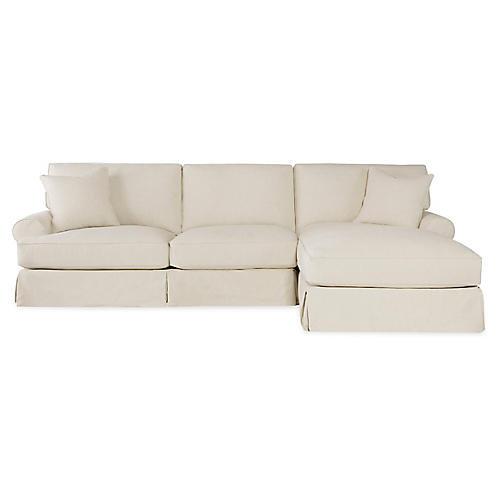 Lauren Right-Facing Sectional, Ecru