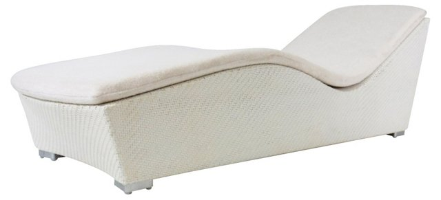 Wave Chaise, White