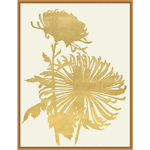 Lillian August, Gold Leaf Wood Cut 1