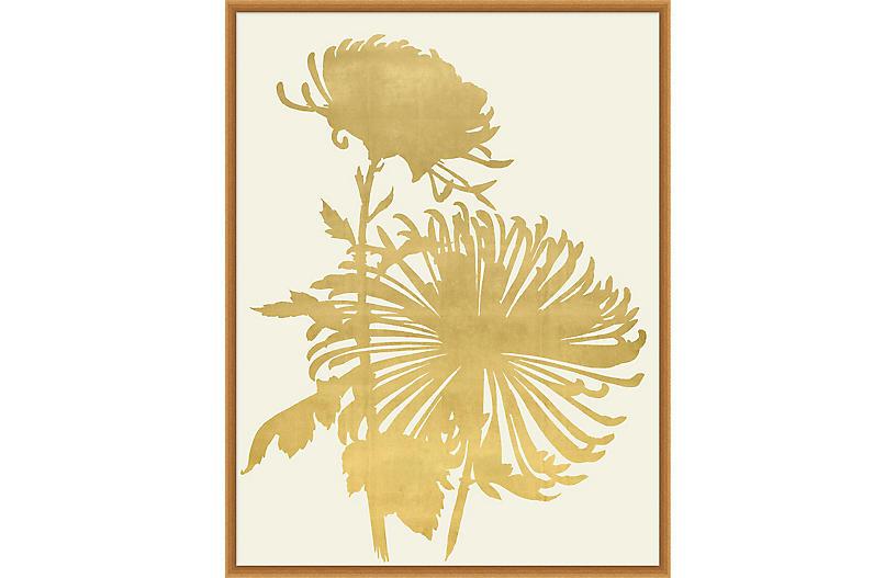 Lillian August, Gold Leaf Wood Cut 1