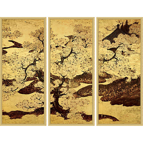 Cherry Trees Triptych 1, Lillian August