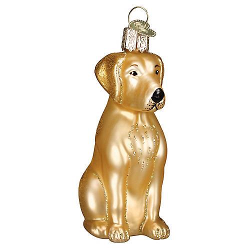 Labrador Ornament, Yellow/Gold