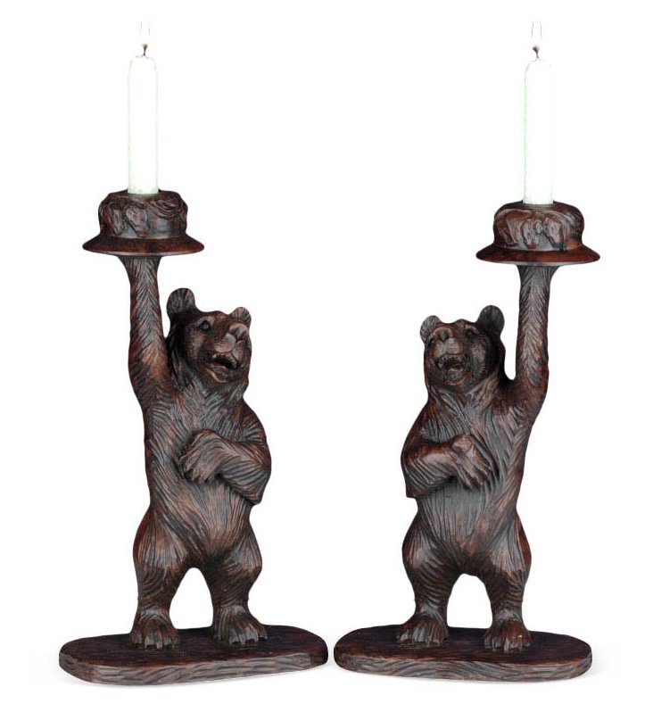 Pair of Honey Bear Candleholders