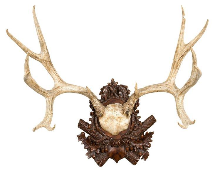 Mule Deer Antler Wall Plaque