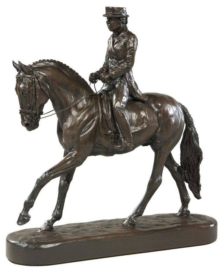"""12"""" Dressage Horse Figurine, Brown"""