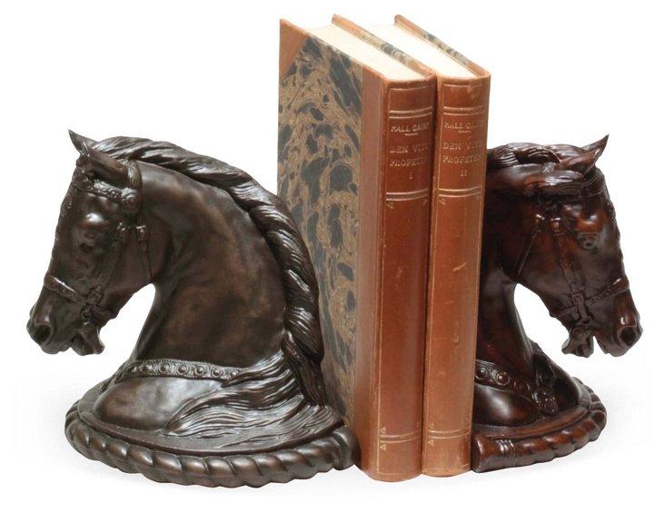 Pair of Grand Arabian Horse Bookends