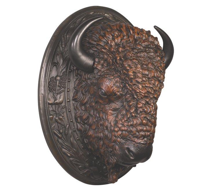 Prairie King Buffalo-Head Wall Decor
