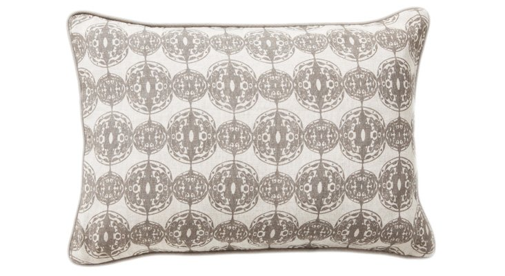 Flora 14x20 Pillow, Taupe