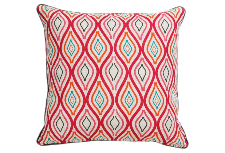 Celestine 22x22 Pillow, Red
