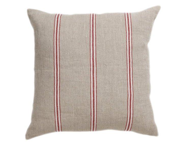Beaumont 18x18 Linen Pillow, Red