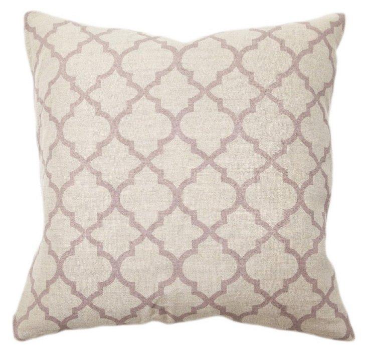 Tile 22x22 Linen Pillow, Purple