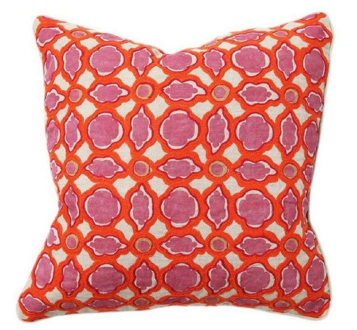 Balance 18x18 Cotton Pillow, Red