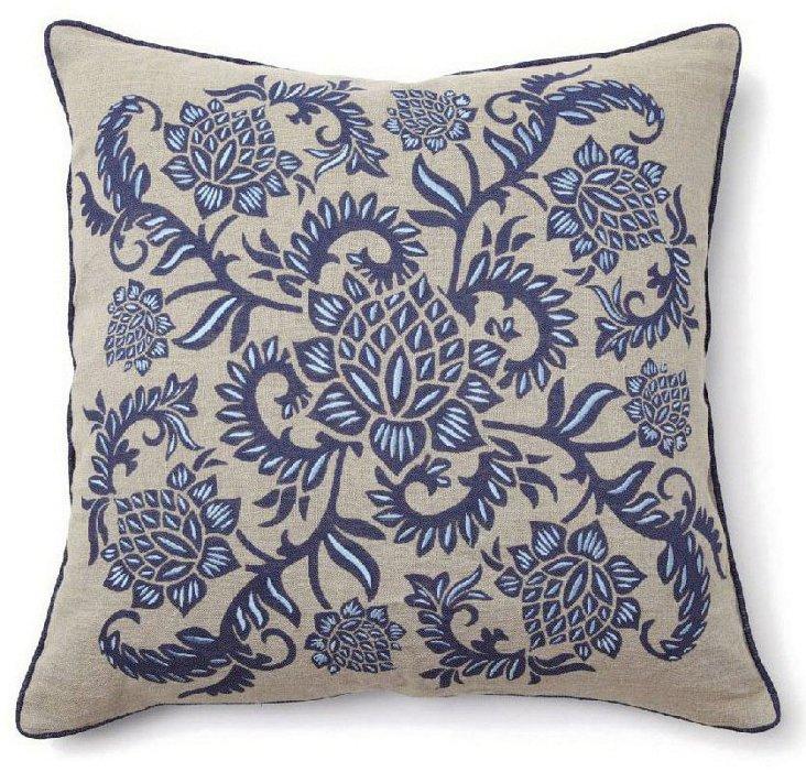 S/2 Taylor 22x22 Cotton Pillows, Navy