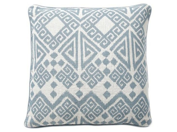 Tangier 22x22 Linen Pillow, Blue