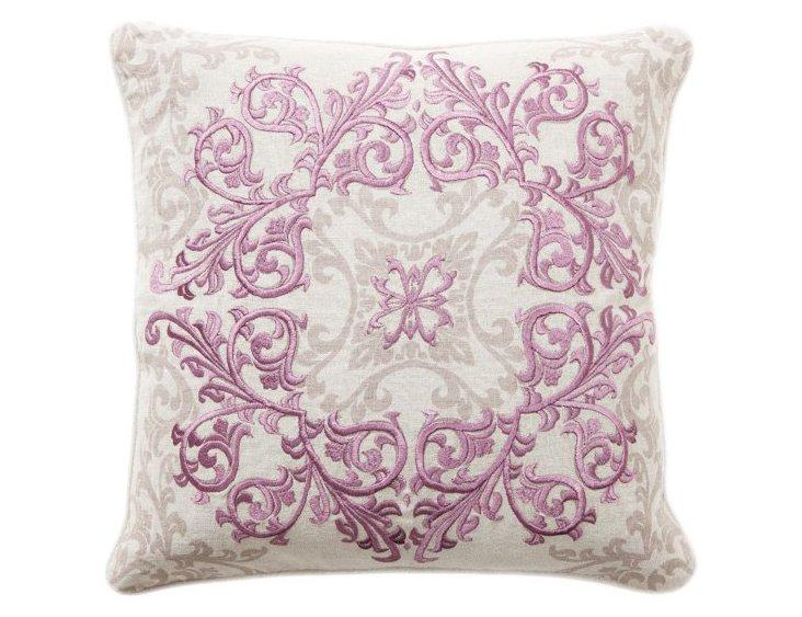 Urbane 18x18 Cotton Pillow, Lilac