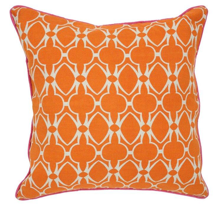 Baja 22x22 Cotton Pillow, Orange
