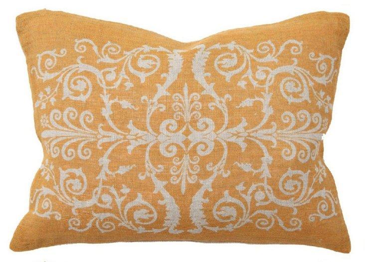 Scroll 12x16 Linen Pillows Orange