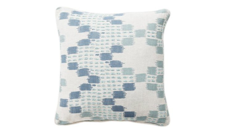 Morocco 18x18 Cotton Pillow, Blue