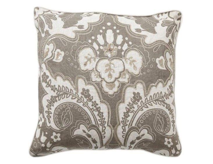Luxe 18x18 Linen Pillow, Gray