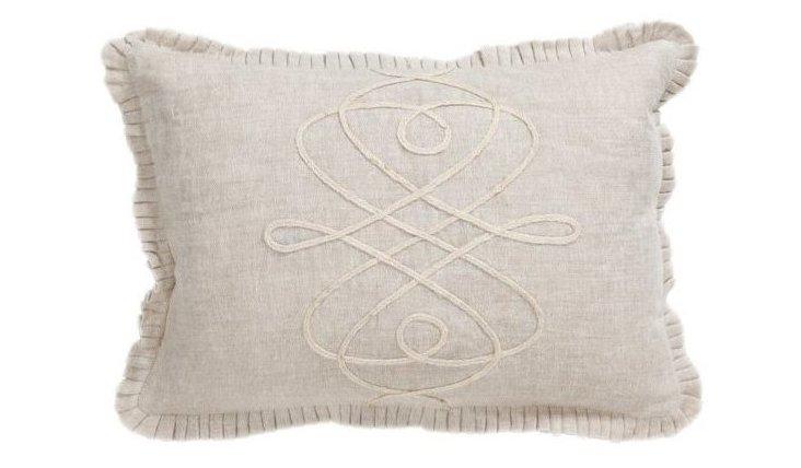 Chateau 14x20 Linen Pillow, Natural