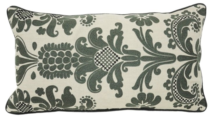 Pierre 14x26 Linen Pillow, Taupe